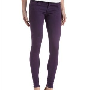 Current/Elliott The Ankle Skinny in Eggplant